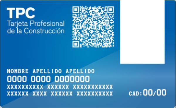 Tarjeta Profesional de la Construcción - TPC - GESFORLEV - Valencia